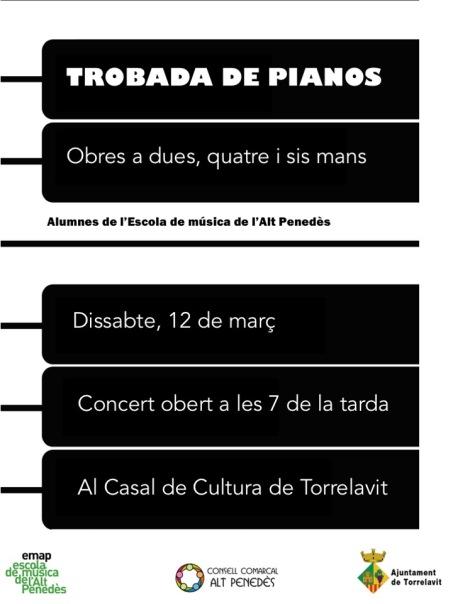 TROBADA DE PIANOS 2016